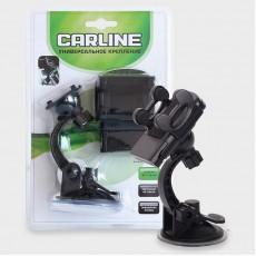 Держатель сотового телефона CARLINE в прикуриватель на длинной штанге с зарядкой USB /umg1-sb