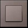 Выключатель 1-клавишный без рамки антрацит 01403500-150101