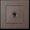 Розетка ТВ без рамки антрацит 01403500-159122