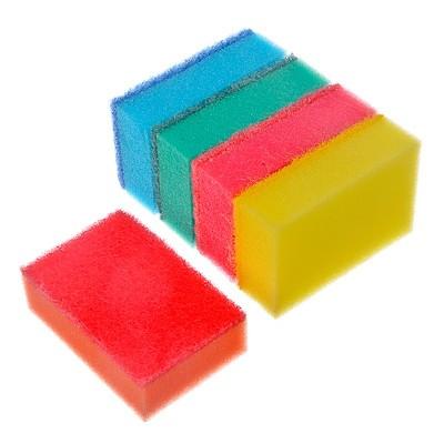 """Набор губок для мытья посуды """"Премиум"""" 5шт,9,6*6,5*3см 441-084 VETTA"""