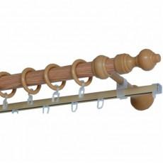 Карниз составной Д28 металлопластик с  рельсой 3м дуб