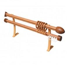 Карниз БК-202 Декор с деревянным наконечником 3м дуб золотой
