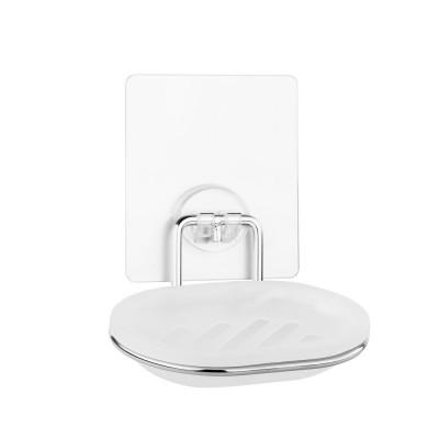 """Мыльница для ванной настенная на силиконовом креплении  пластик """"Kleber lite"""" KLE-LT036"""