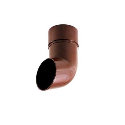 Слив водосточной трубы коричневый ПВХ