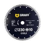 Алмазный диск турбо по бетону и камню GRAFF 230х10х2.8х22,23 мм