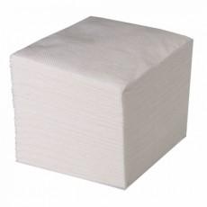 Салфетки бумажные 100 шт, однослойные 24х24 см белые