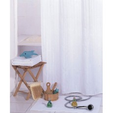 Шторка для ванной однотонная белая арт.001-Е