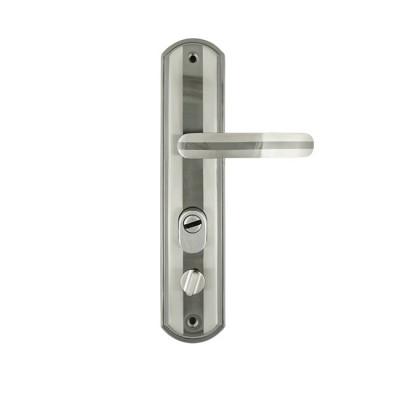 Ручка дверная на планке NORA-M 301-68мм правая матовый хром-черный никель