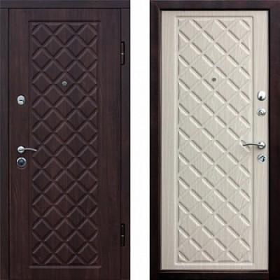 Дверь металлическая Ромбы Люкс 3К  860х2050 правая