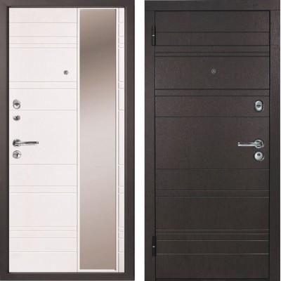 Дверь металлическая Дипломат Роял Вуд черный/Роял Вуд белый 960*2050 левая