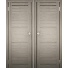 Дверное полотно АМАТИ-00 дуб дымчатый экошпон ПГ-800