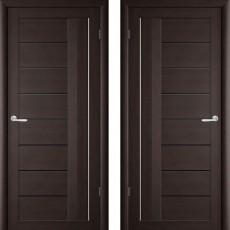 Дверное полотно экошпон Катрин-2 Палермо Венге ПО-500