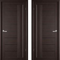 Дверное полотно экошпон Катрин-2 Палермо Венге ПО-800