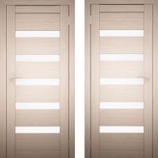 Дверное полотно Амати-02 Дуб беленый экошпон ПО-900
