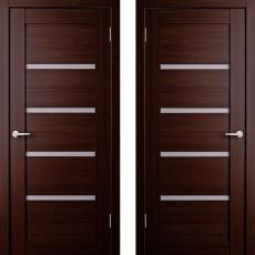 Дверное полотно экошпон Анкона 4 Венге ПО-700