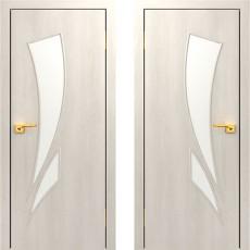 Дверное полотно остекленное С-02 Дуб беленый ПО-700