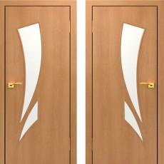 Дверное полотно остекленное С-02 Миланский орех ПО-600