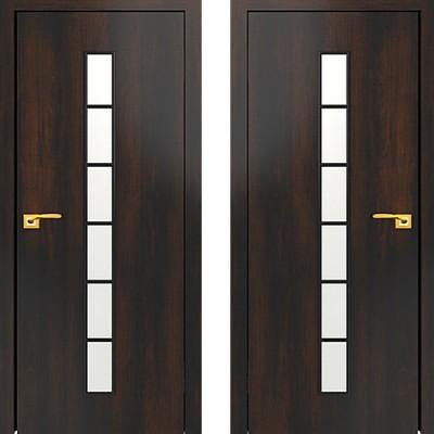 Дверное полотно остекленное С-12 Венге ПО-600