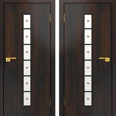 Дверное полотно остекленное с фьюзингом С-12 Венге ПОФ-800