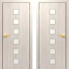 Дверное полотно остекленное С-09 Дуб беленый ПО-700