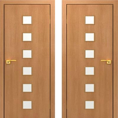 Дверное полотно остекленное С-09 Миланский орех ПО-800