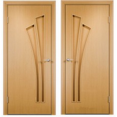 Дверное полотно С-07 миланский орех ПГ-700 (Салют)