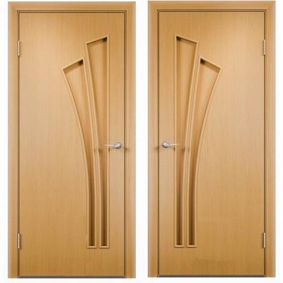 Дверное полотно С-07 миланский орех ПГ-800 (Салют)