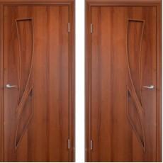 Дверное полотно С-02 итальянский орех ПГ-700 (Геометрия)