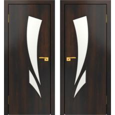 Дверное полотно С-02 венге ПО-900 (Геометрия)