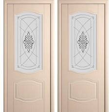 Дверь шпонированная Мария беленый дуб ПО-900