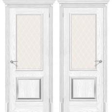 Дверь ЭКО Классико-13 ПО-700 Silver Ash White Сrystal