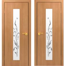 Дверное полотно С-05 ХС миланский орех ПО-900 (Лилия)