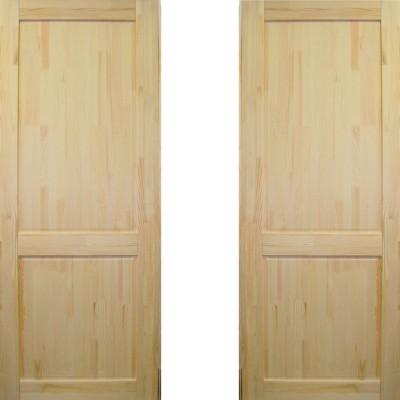 Дверное полотно Классика ДГ-600 массив сосна без сучков Премиум