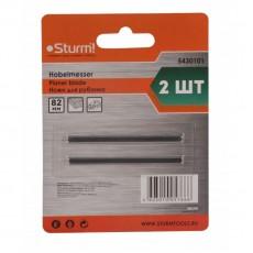 Ножи для рубанка Sturm! 82x1.2x5.5мм, универсальные, 2шт, высокоуглеродистая сталь, блистер