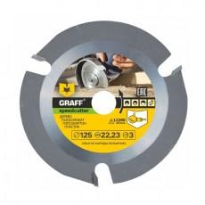"""Пильный диск по дереву для УШМ (болгарки) GRAFF """"Speedcutter"""" д. 125 мм Z=3"""