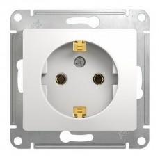 Розетка с заземляющим контактом Schneider Electric Glossa GSL000143 (16 А, под рамку, скрытая установка, белая)