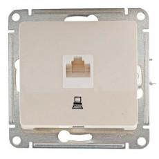 Механизм розетки компьютерной 1-м СП Glossa RJ45 бежевый SchE GSL000281K