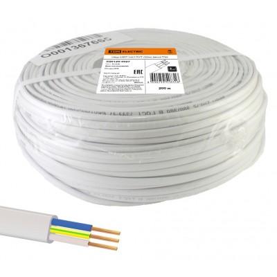 Шнур ШВВПмб 3х0,75 ГОСТ (200м), белый TDM SQ0120-0028