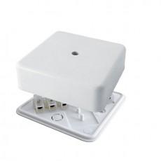 Коробка распаячная КР 50х50х20 ОП белая, IP40, с клем. колодкой, инд. штрихкод TDM SQ1401-0902