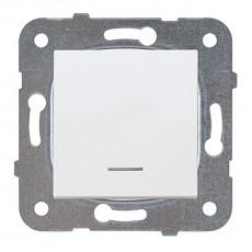Выключатель 1-клавишный с подсветкой белый WKTT00022WH-BY Panasonic без рамки