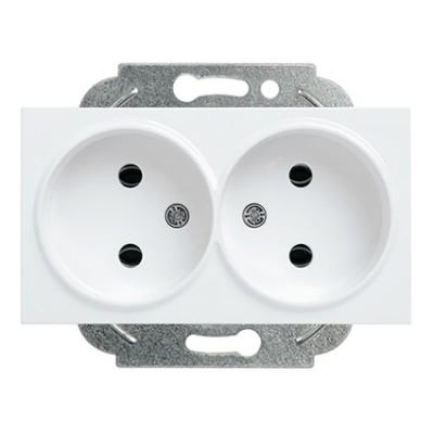 Розетка двойная без заземления  в сборе белая WKTC02042WH-BY Panasonic