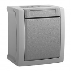 Выключатель 1-кл серый наружный WPTC40012GR-BY Panasonic PACIFIC IP54