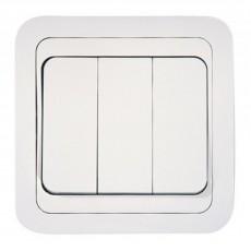 Выключатель Mimoza 3 клавишный Makel белый