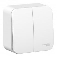 Выключатель Schneider Electric Blanca BLNVA105011 двухклавишный с изолирующей пластиной (белый)