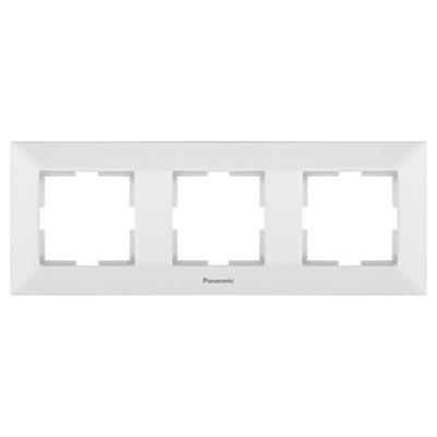 Рамка 3-х постовая белая Аркадия WMTF08032WH-BY Panasonic
