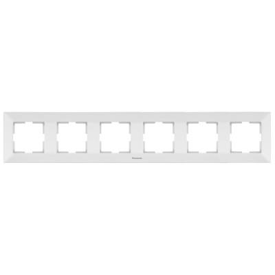 Рамка 6-х постовая белая WKTF08062WH-BY Panasonic