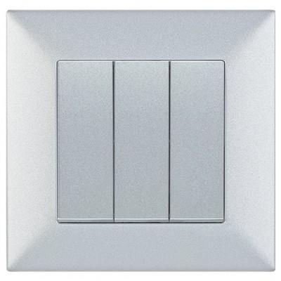 Выключатель 3-клавишный серебро (узел)WKTT00152SL-BY Panasonic
