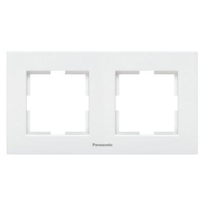 Рамка 2-х постовая белая Аркадия WMTF08022WH-BY Panasonic