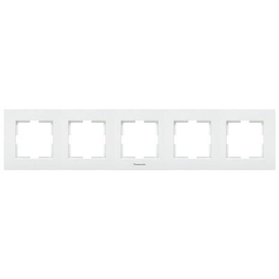 Рамка 5-х постовая белая WKTF08052WH-BY Panasonic