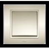 Выключатель ZENA 1 СП без рамки титаниум (609-011400-200)